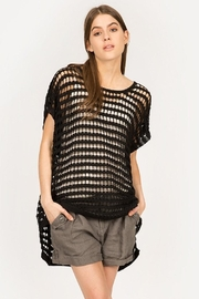 Mur Hi-Low Net Sweater - Product Mini Image