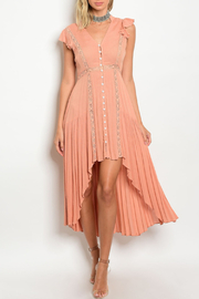 the clothing company Hi-Low Peach Dress - Product Mini Image