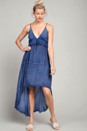 LLove Hi-Low Plunging V-Neck Maxi - Front full body