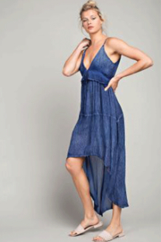 LLove Hi-Low Plunging V-Neck Maxi - Front cropped