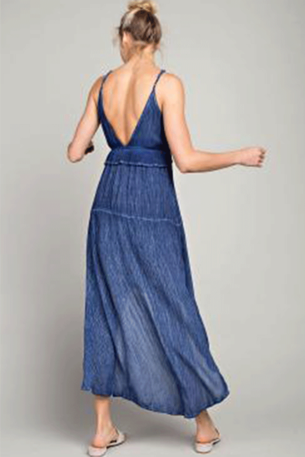 LLove Hi-Low Plunging V-Neck Maxi - Side Cropped Image