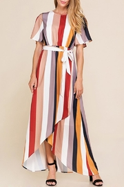 Polagram Hi-Low Striped Dress - Product Mini Image