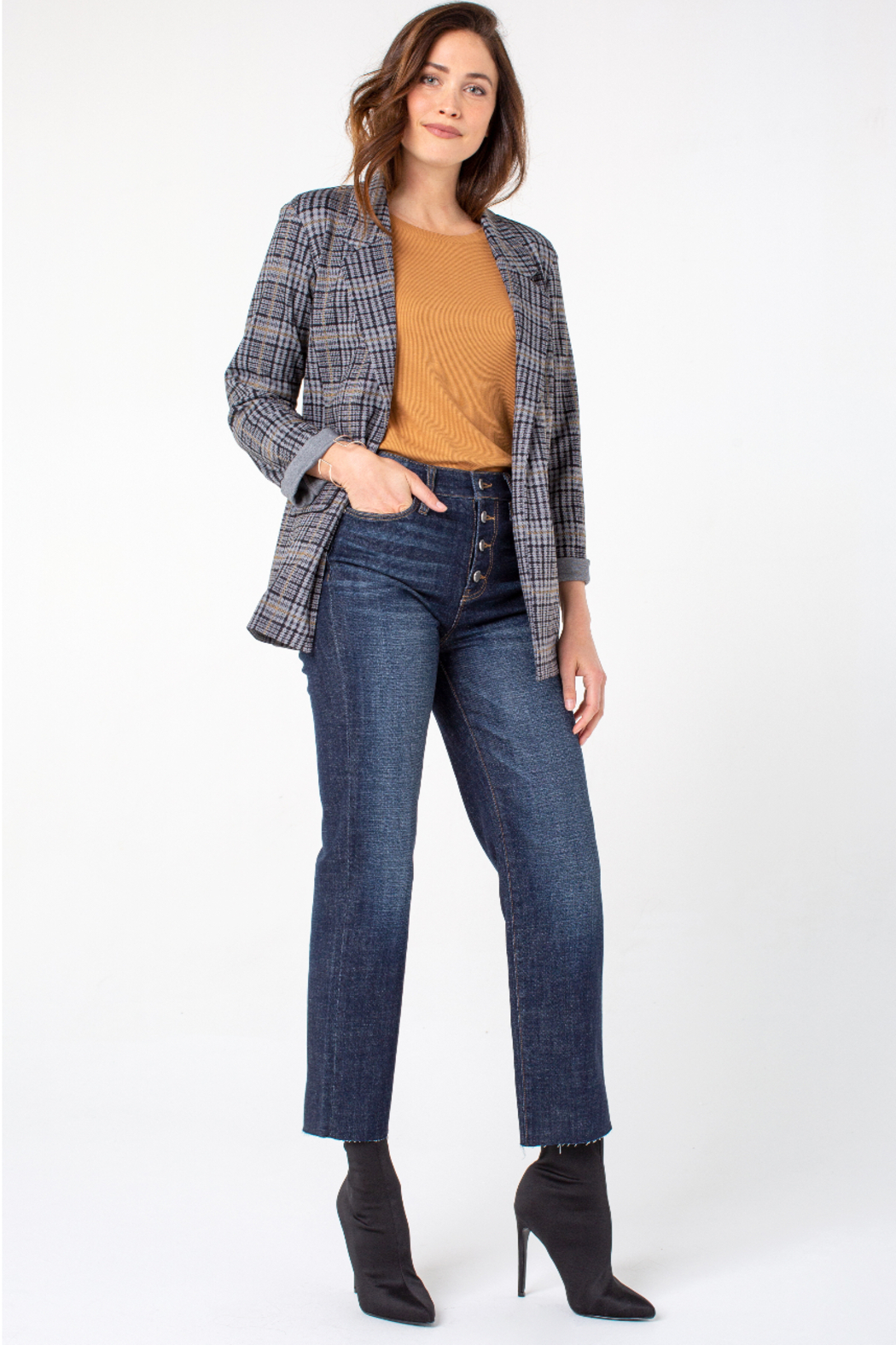 Liverpool  Hi-Rise Crop Straight Cut Jeans - Side Cropped Image
