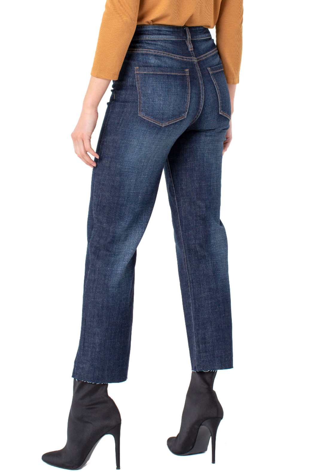 Liverpool  Hi-Rise Crop Straight Cut Jeans - Front Full Image