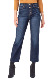 Liverpool  Hi-Rise Crop Straight Cut Jeans - Front cropped