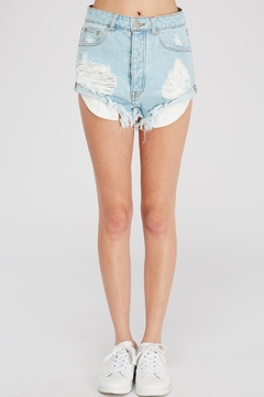 Shoptiques Product: Hi-Rise Distressed Shorts