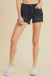 Just Black Denim Hi-Rise Shorts - Product Mini Image