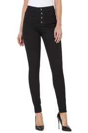 Numero Denim Hi Rise Skinny w Exposed Buttons - Front cropped