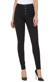 Numero Denim Hi Rise Skinny w Exposed Buttons - Product Mini Image
