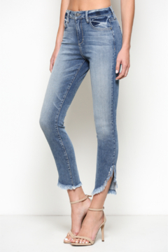 Hidden Jeans HI Rise Skinny w Side Distress Hem - Product List Image