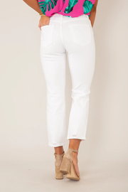 just black Hi Rise Straight Distressed Jean - Side cropped