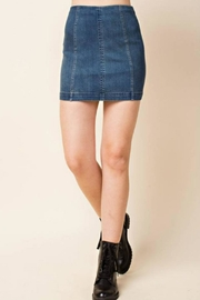 honey belle Hi-Waist Denim Mini - Product Mini Image