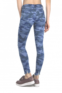 Tractr Blu Hi-Waist Distressed Camo Pant - Alternate List Image