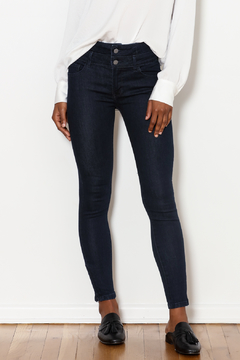 Best Mountain Hi Waist Double Button Skinny Jeans - Product List Image