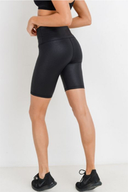 Mono B Hi Waist Vegan Biker Short - Front full body