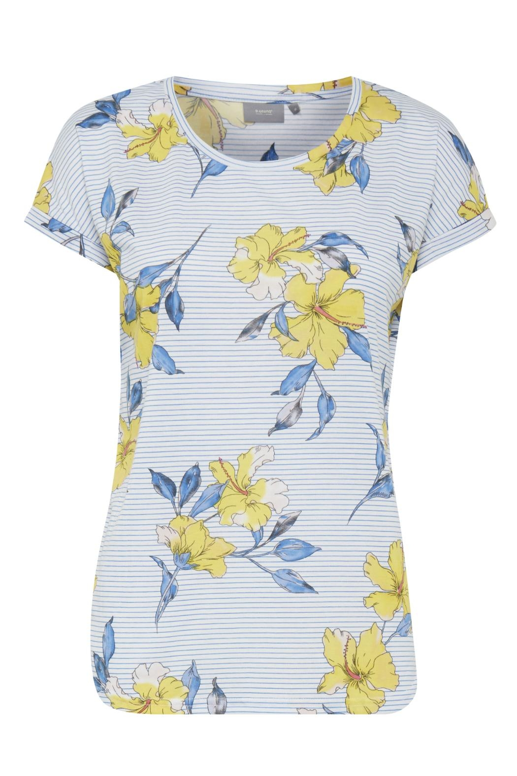 B.young Hibiscus Print T-Shirt - Front Cropped Image