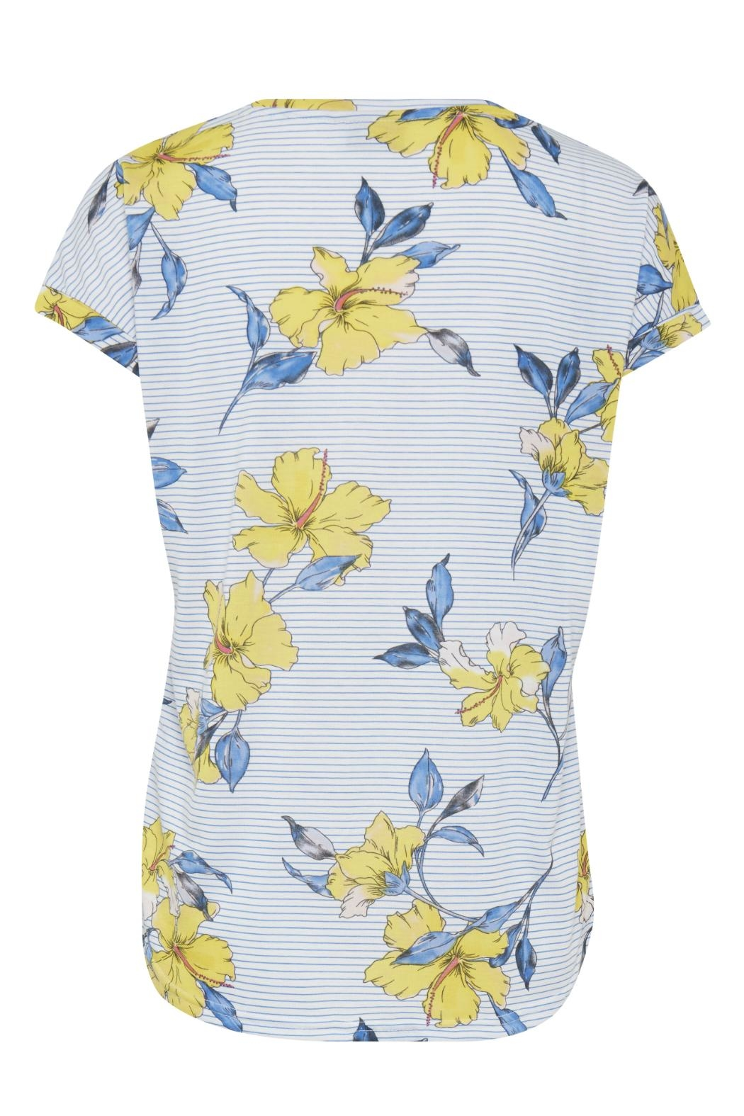 B.young Hibiscus Print T-Shirt - Front Full Image