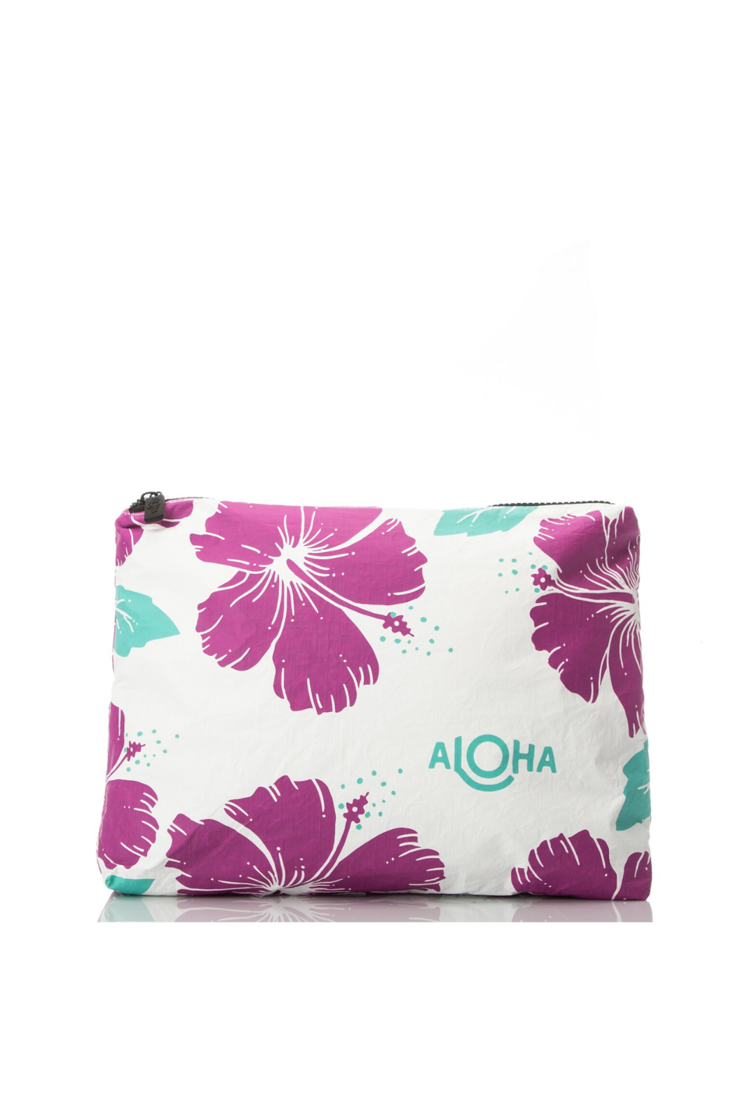 Aloha Collection Hibiscus Zipper Bag - Front Cropped Image