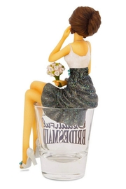 Hiccup Bridesmaid Shotglass - Front full body