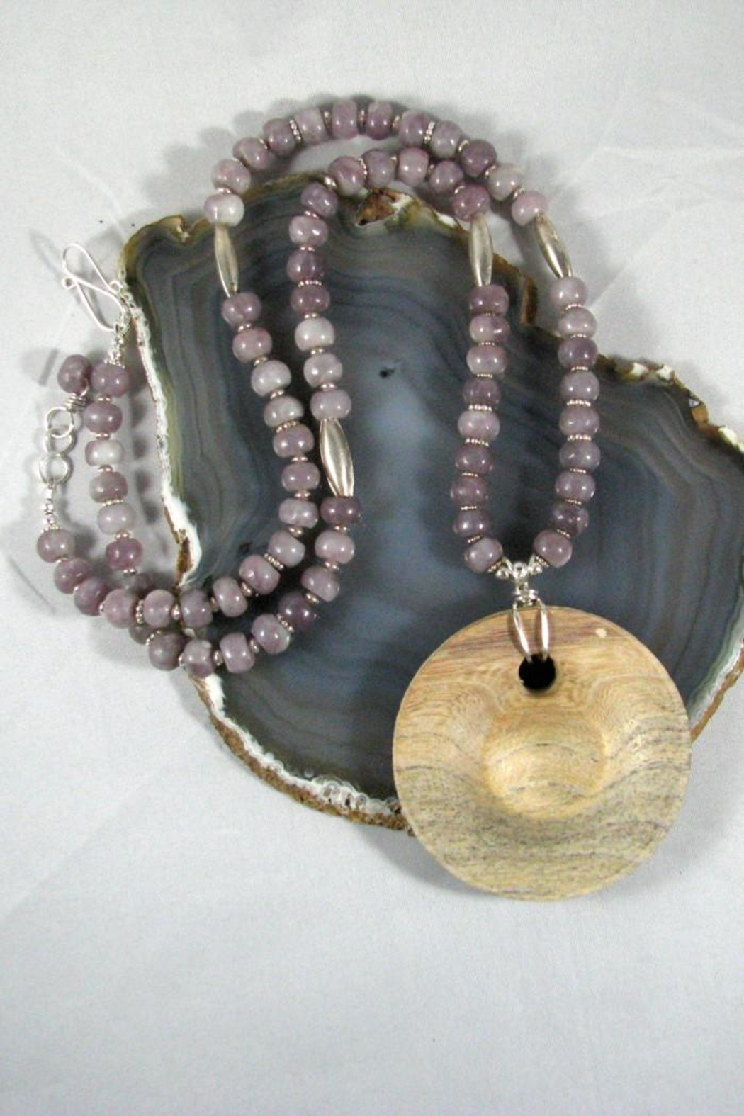 Silver Serpent Studio Hickory Wood Necklace - Main Image