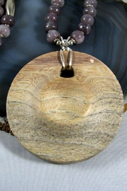 Silver Serpent Studio Hickory Wood Necklace - Front full body