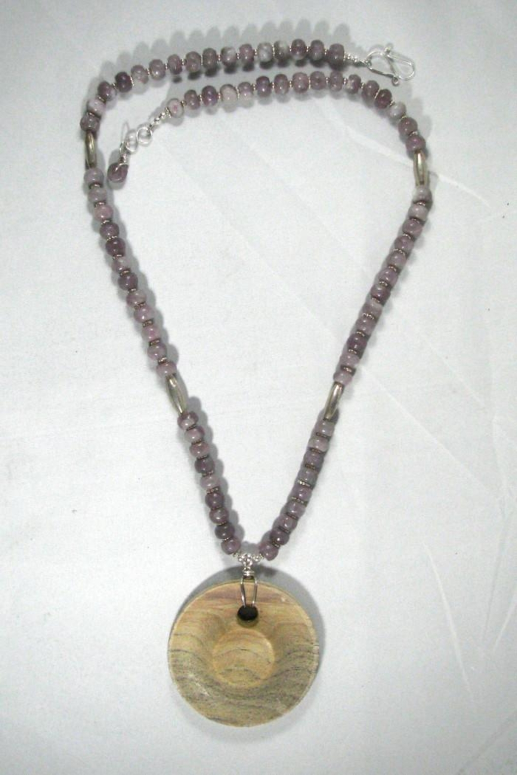 Silver Serpent Studio Hickory Wood Necklace - Back Cropped Image