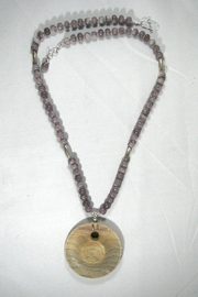 Silver Serpent Studio Hickory Wood Necklace - Back cropped