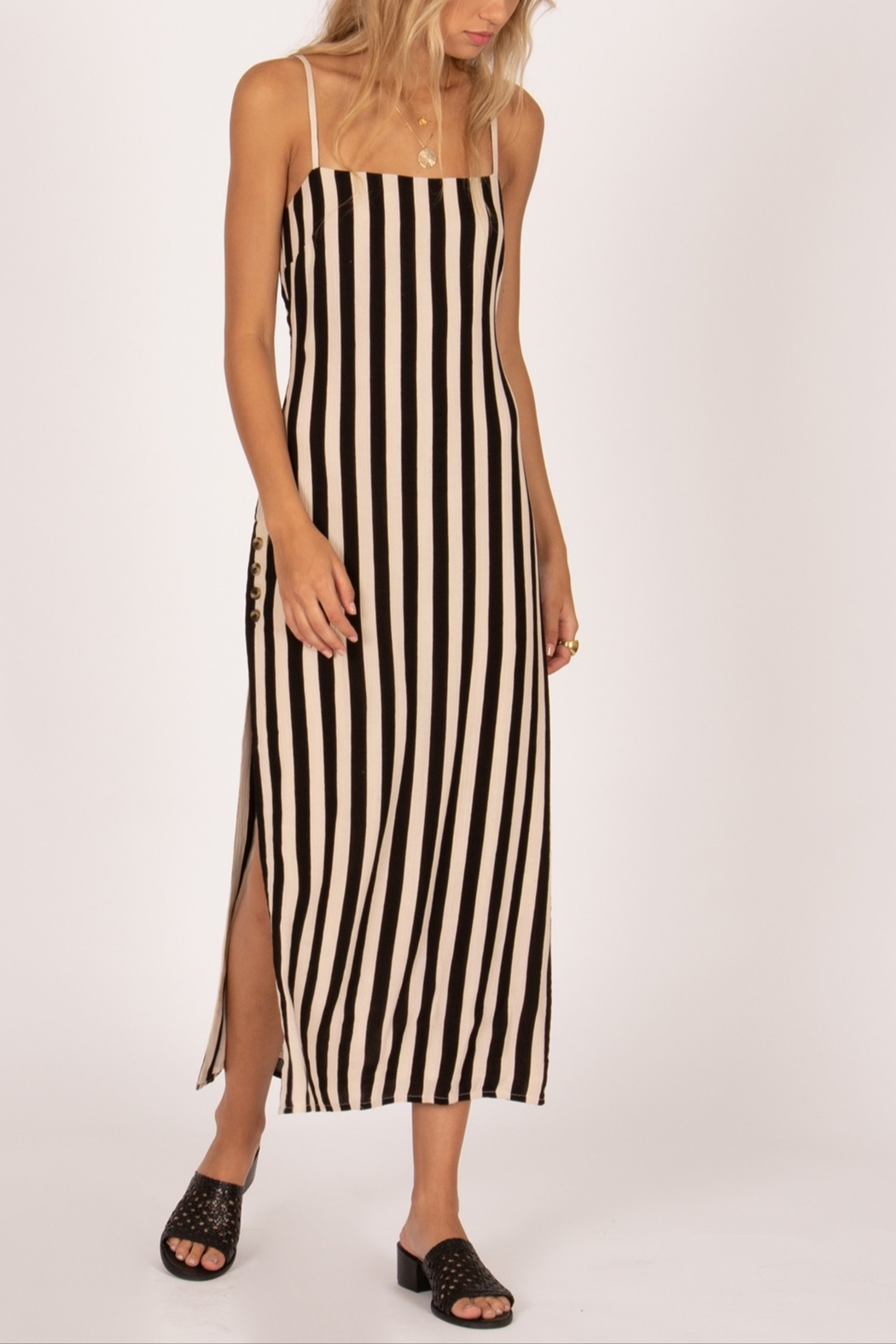 AMUSE SOCIETY Hidden Cove Midi Dress - Front Cropped Image
