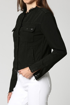 Hidden Jeans Black Collarless Jacket - Product List Image