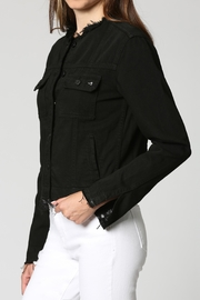 Hidden Jeans Black Collarless Jacket - Front cropped