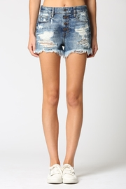 Hidden Jeans Button Fly Denim Short - Front cropped