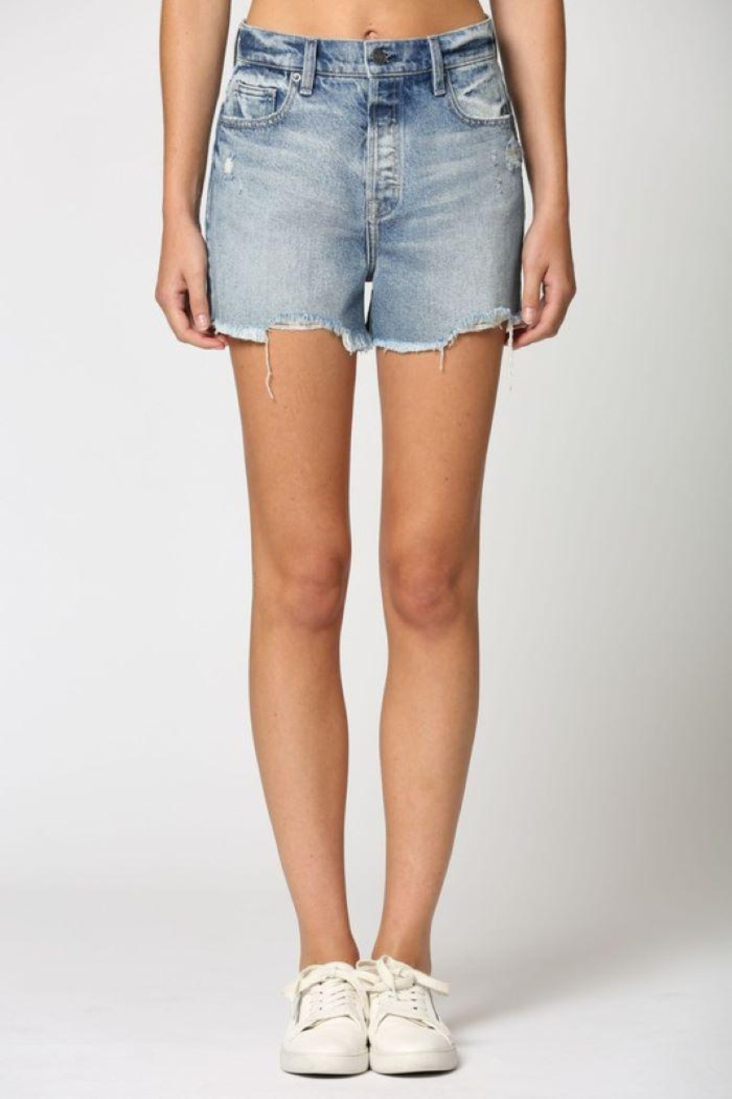 Hidden Jeans Classic Vintage Mom Shorts - Back Cropped Image