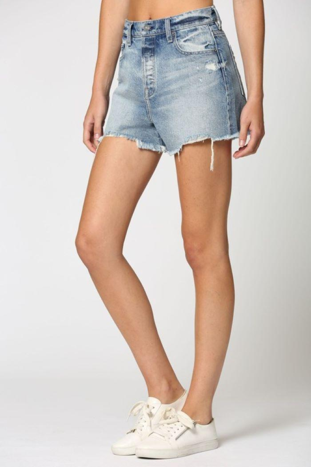 Hidden Jeans Classic Vintage Mom Shorts - Front Full Image