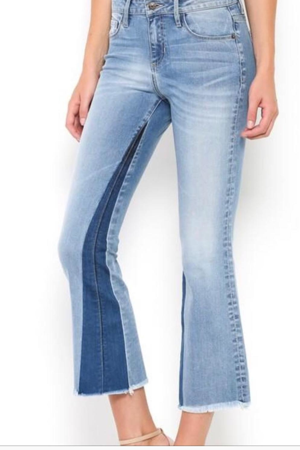 Hidden Jeans Cropped Fit/flare Jeans - Main Image