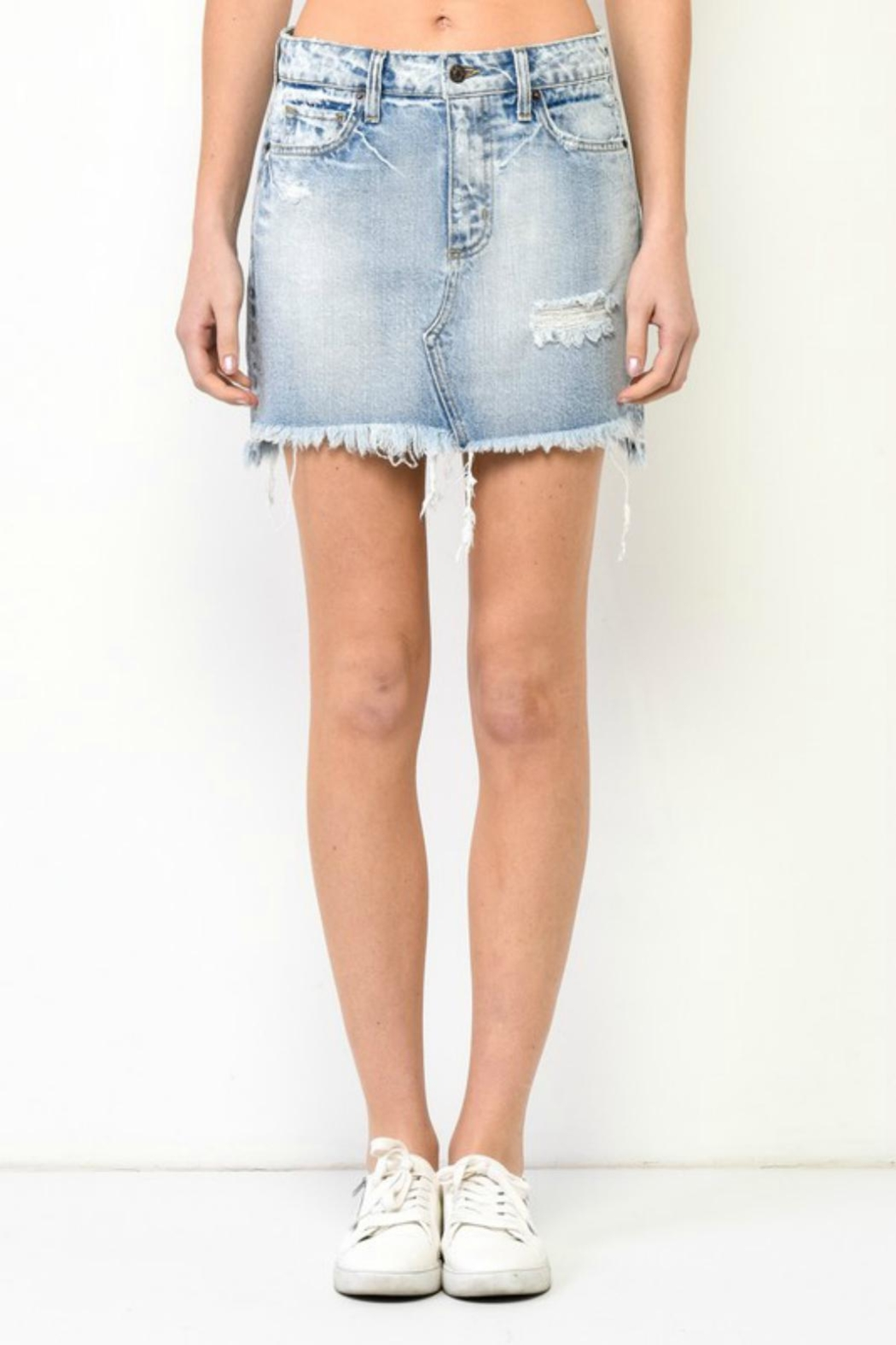 Hidden Jeans Mini Denim Skirt - Main Image