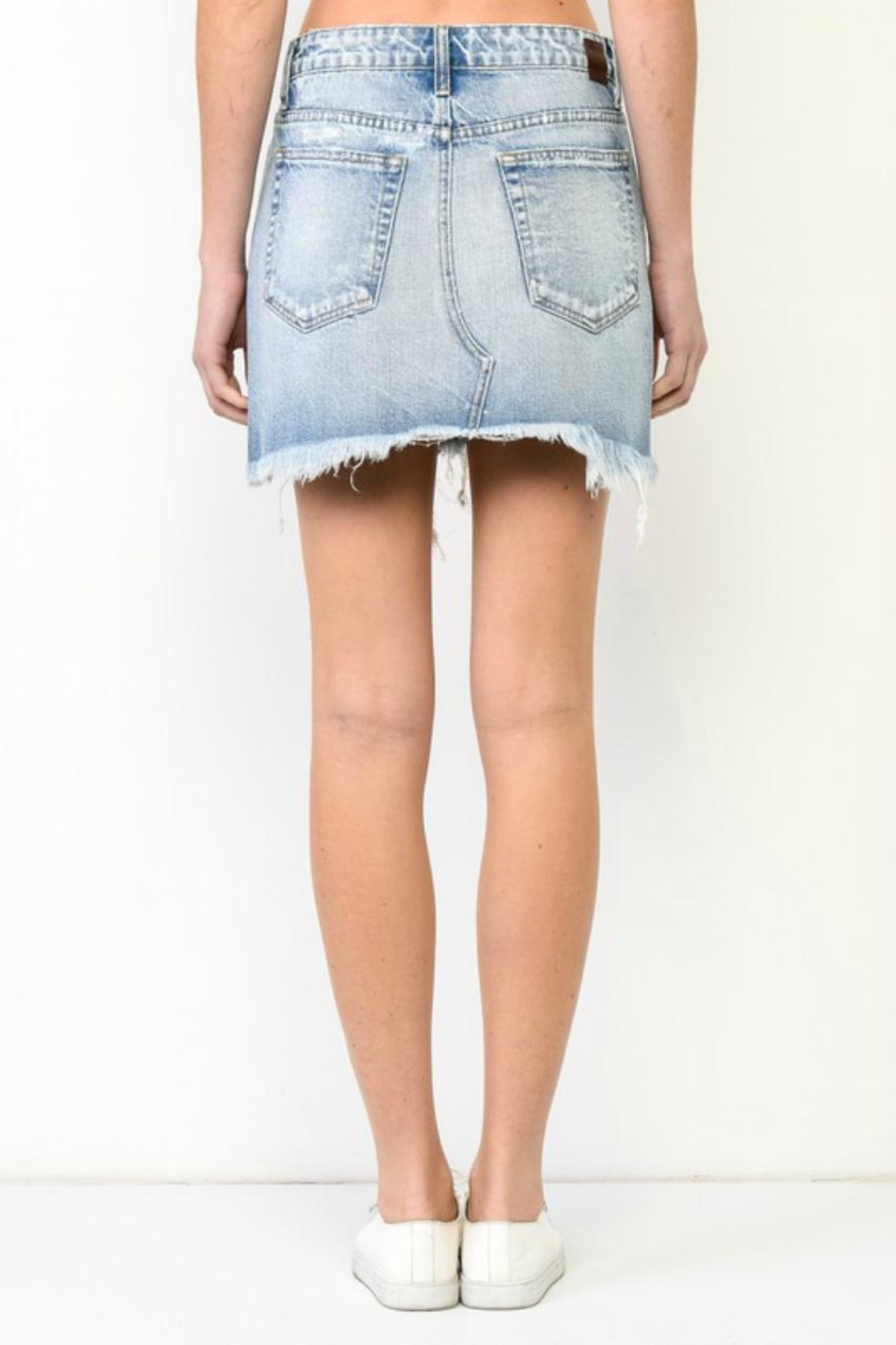 Hidden Jeans Mini Denim Skirt - Front Full Image