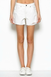 Hidden Jeans Distressed Mama Shorts - Product Mini Image