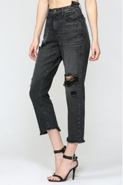 Hidden Jeans Distressed Straight Crop - Front full body
