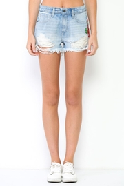 Hidden Jeans Embroidered Denim Shorts - Product Mini Image