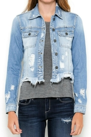 Hidden Jeans Frayed Distressed Jacket - Product Mini Image