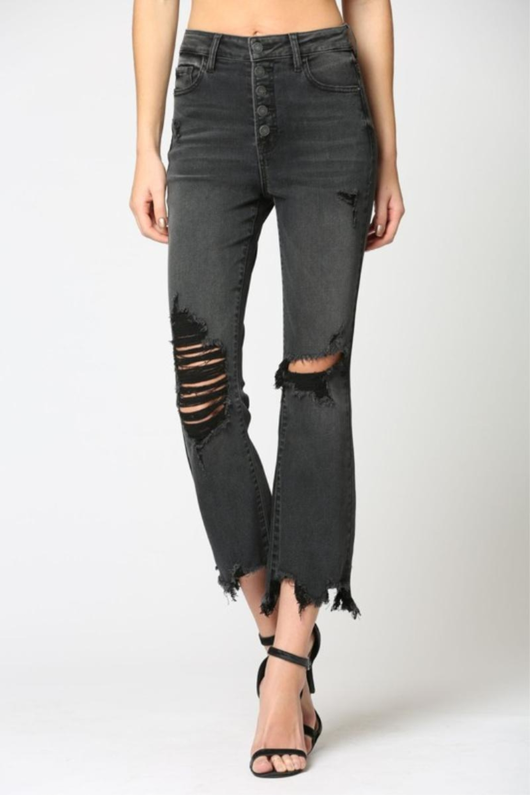 Hidden Jeans Happi Cropped Flare - Front Full Image