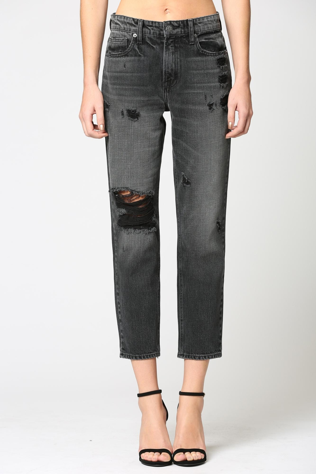 Hidden Jeans High Rise Boyfriend Jean - Front Cropped Image