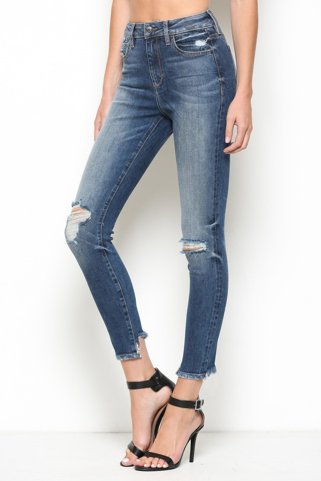 Hidden Jeans High Rise Skinny Jean - Front Full Image