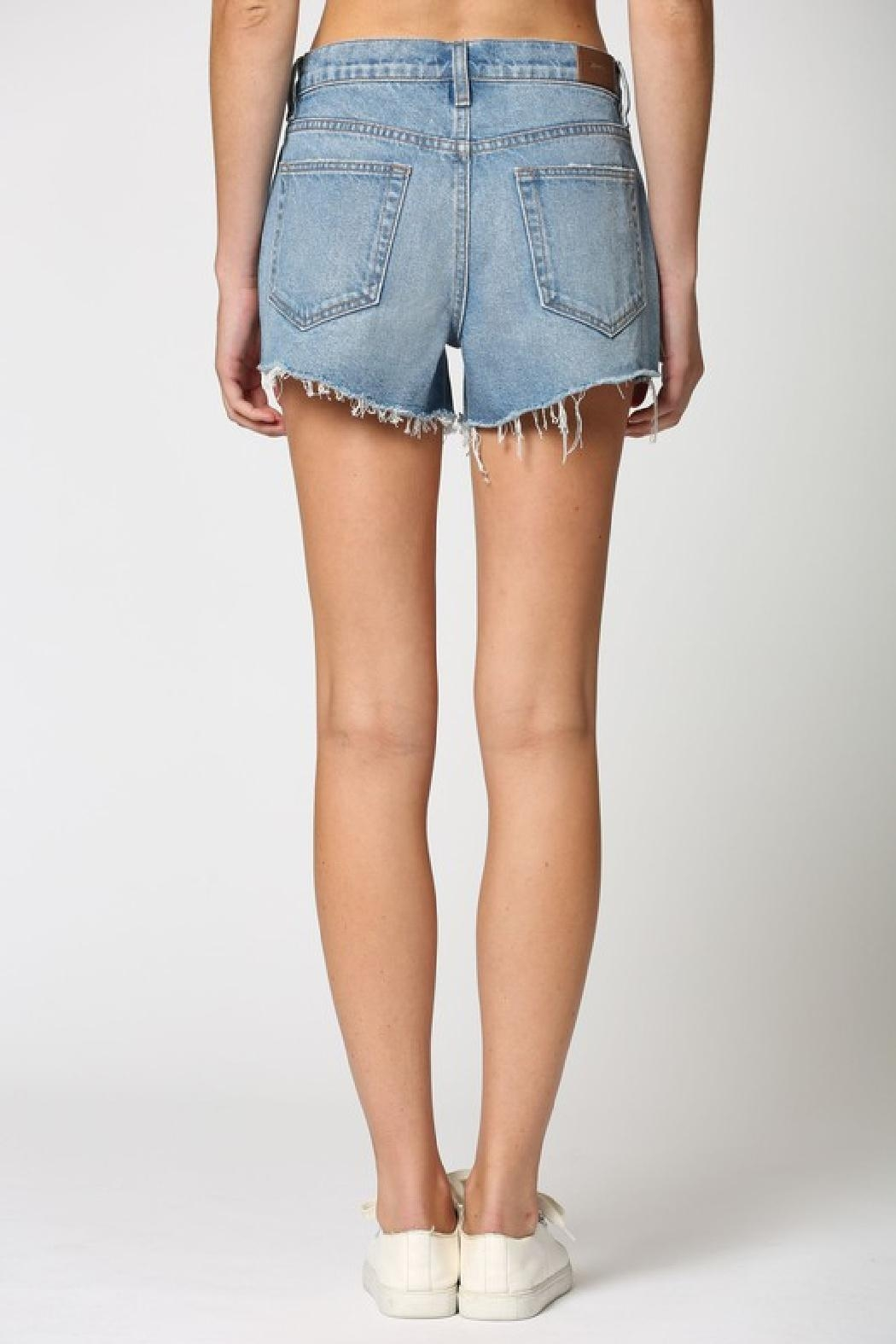 Hidden Jeans Kenzie Mid-Rise Shorts - Back Cropped Image