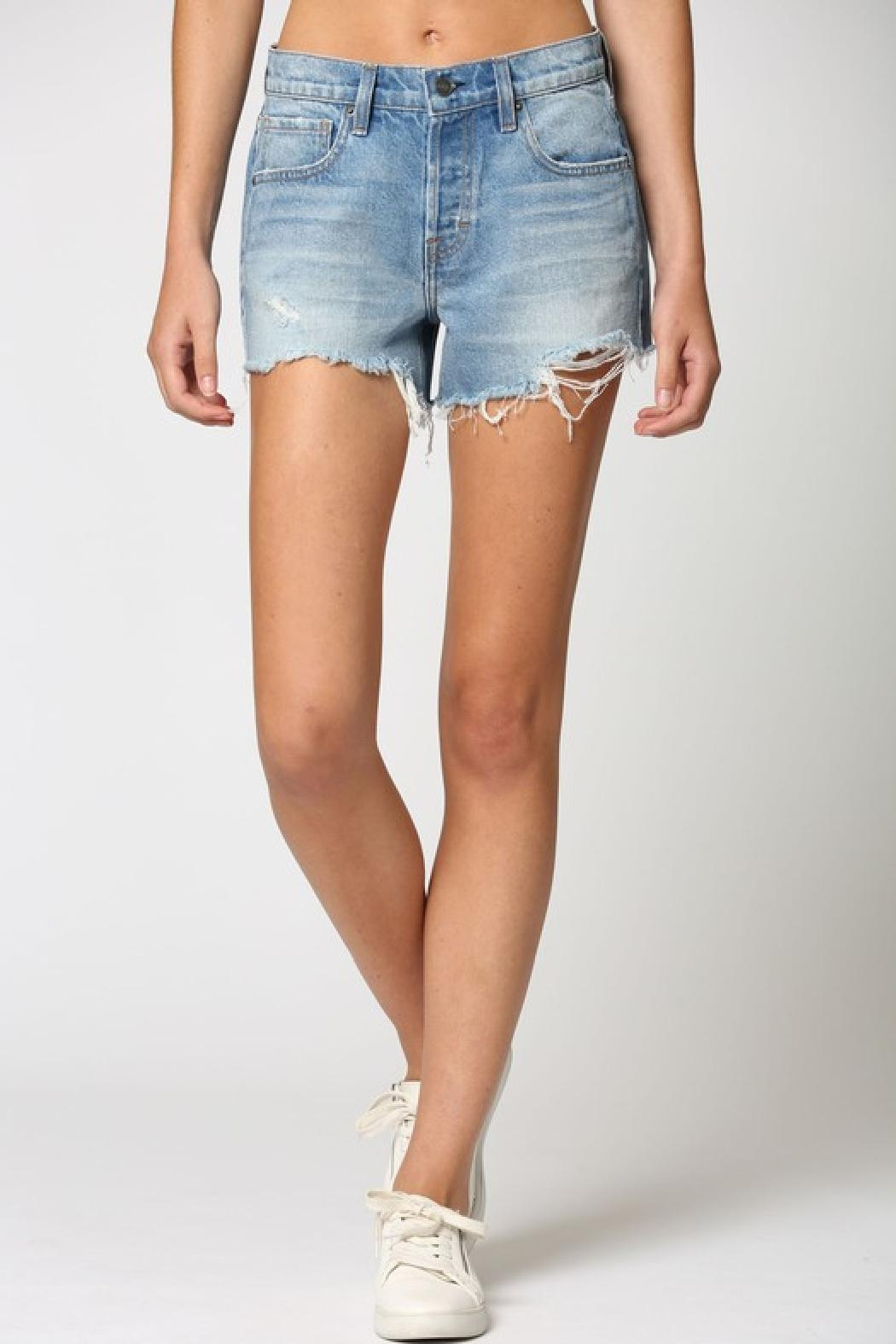 Hidden Jeans Kenzie Mid-Rise Shorts - Front Full Image