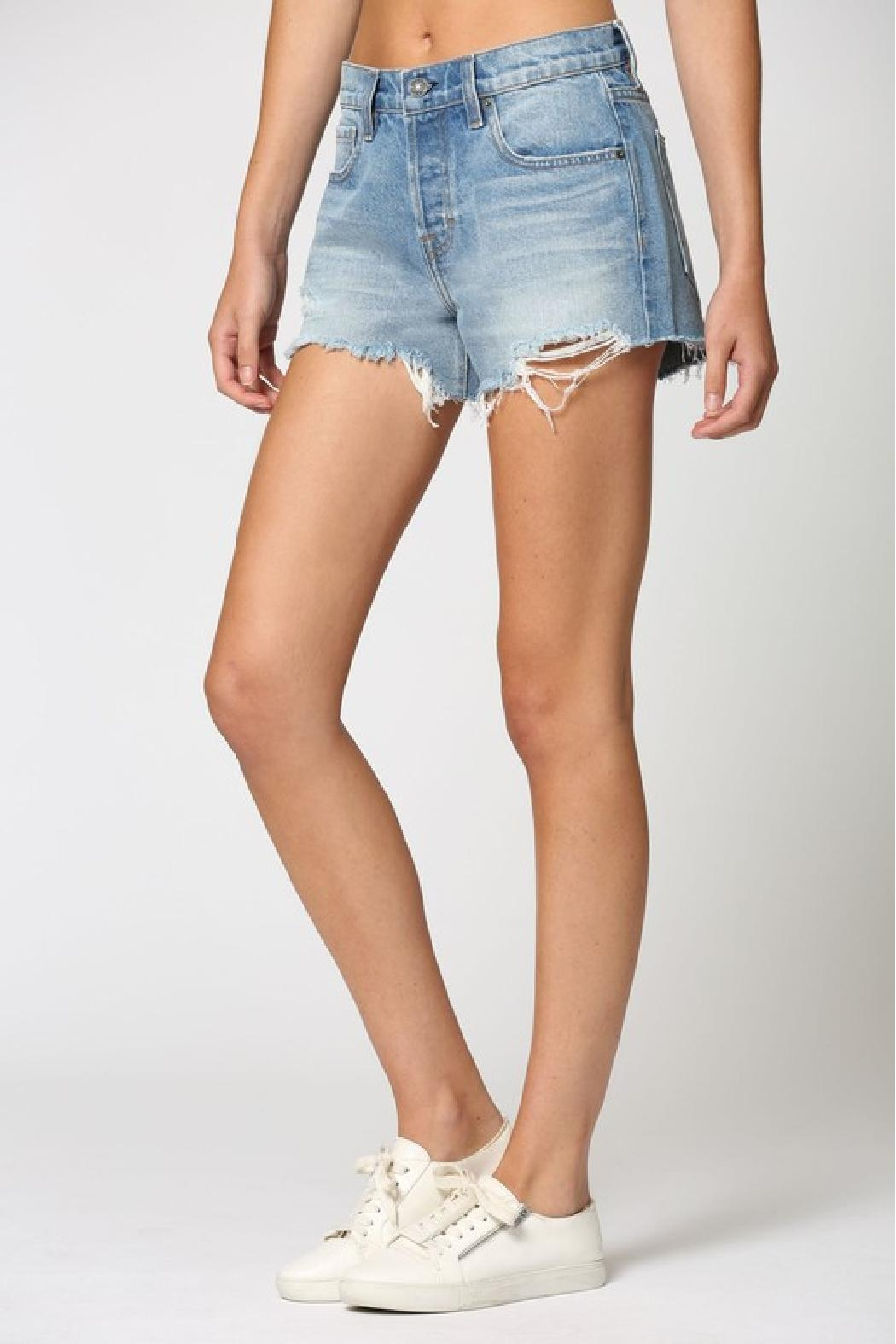 Hidden Jeans Kenzie Mid-Rise Shorts - Side Cropped Image