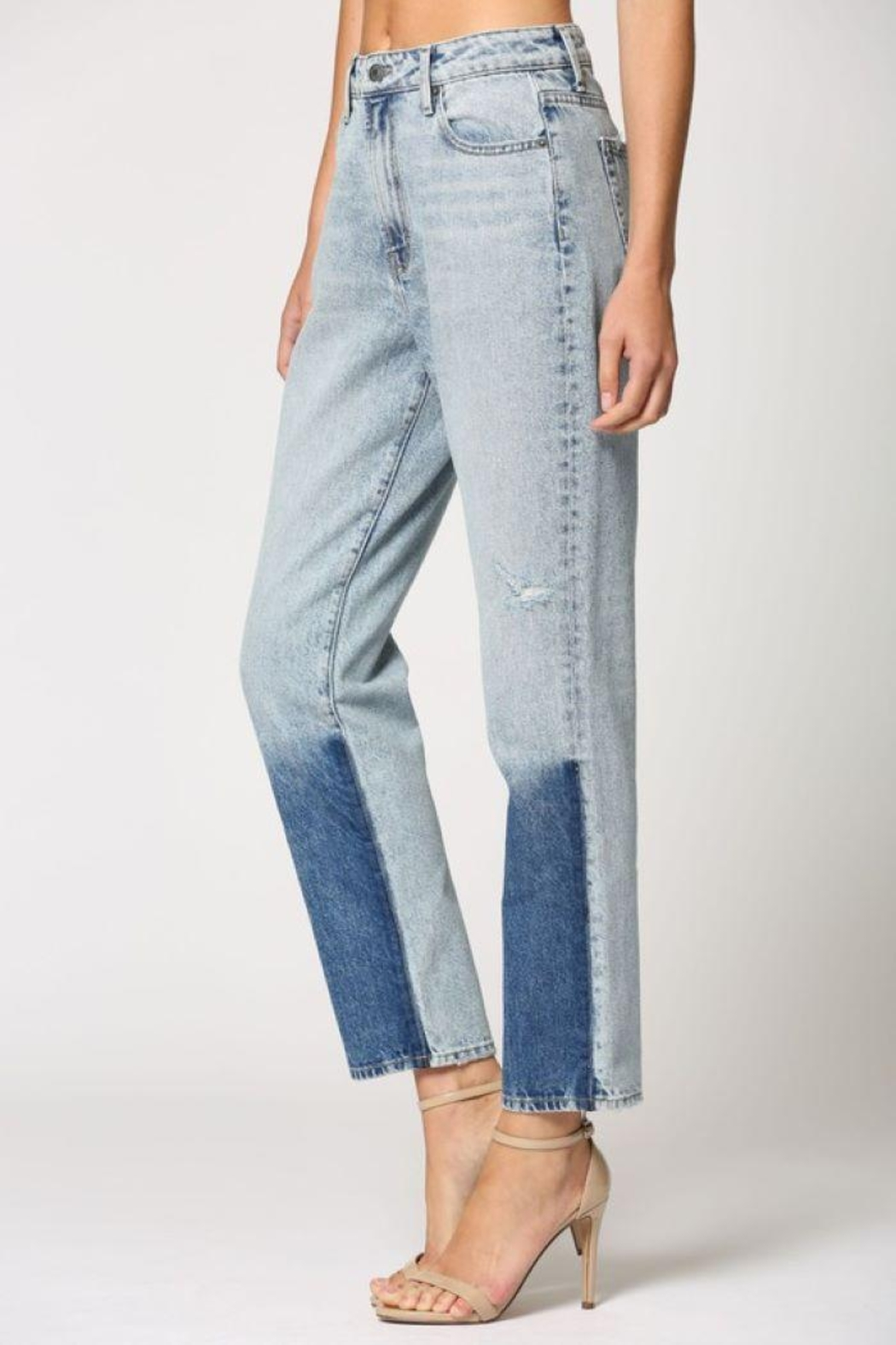 Hidden Jeans Light Wash Two Tone Straight Jeans - Main Image