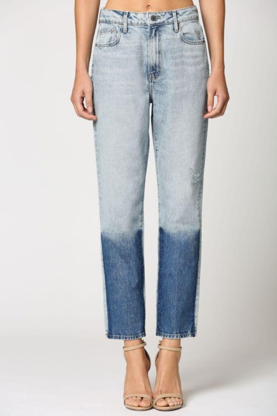 Hidden Jeans Light Wash Two Tone Straight Jeans - Side Cropped Image