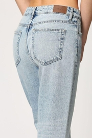 Hidden Jeans Light Wash Two Tone Straight Jeans - Front full body