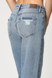 Hidden Jeans Medium Wash Curved Hem Straight - Back cropped